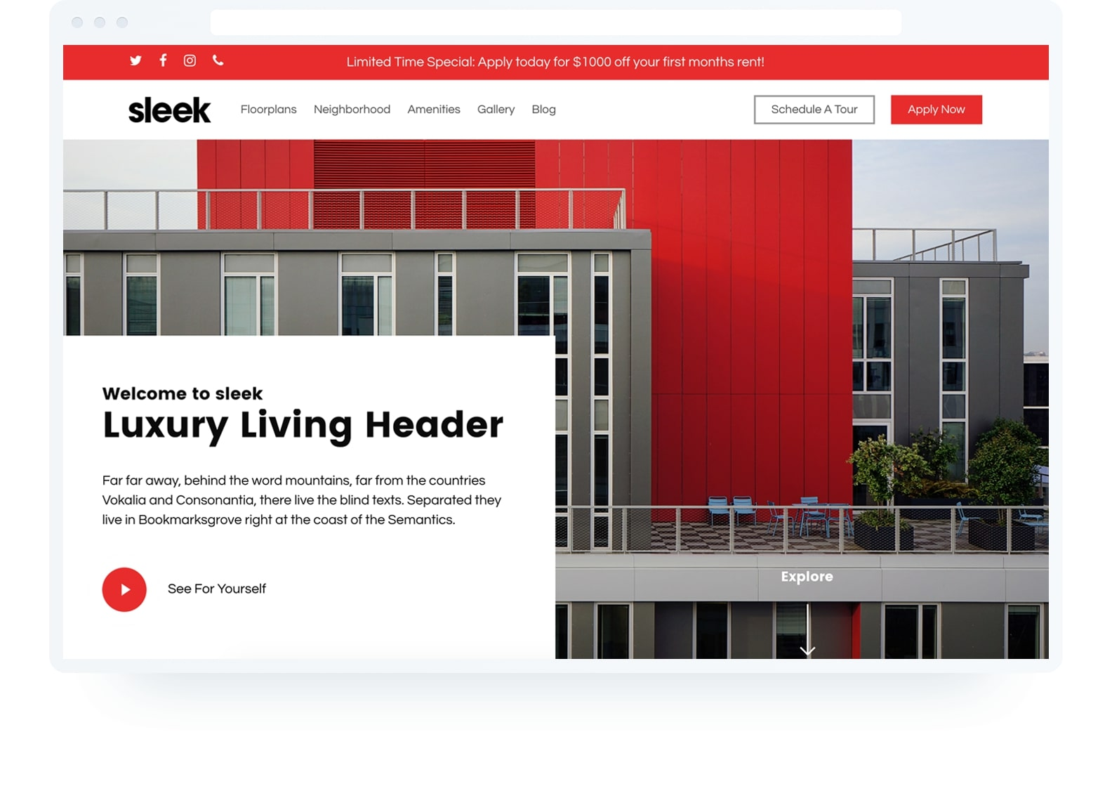 Template websites Multifamily Apartments | Uncomn Projects