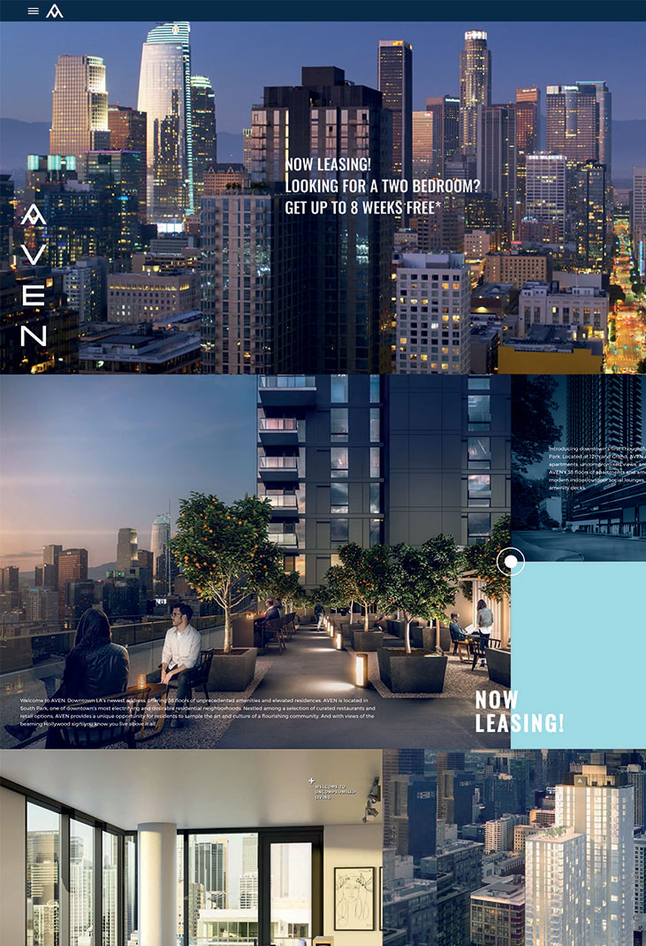 multifamily advertising uncomn projects website design